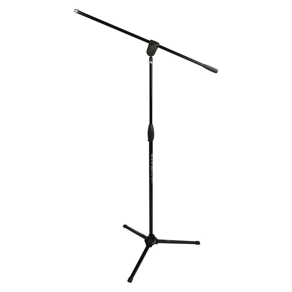 Ultimate Support MC-40B Pro Microphone Stand with Three-way Adjustable Boom Arm and Stable Tripod Base - Black - Bananas at Large