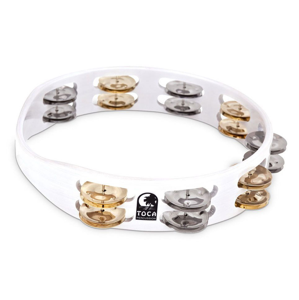Toca TCT10 10 in. Colorsound Tambourine - White - Bananas at Large