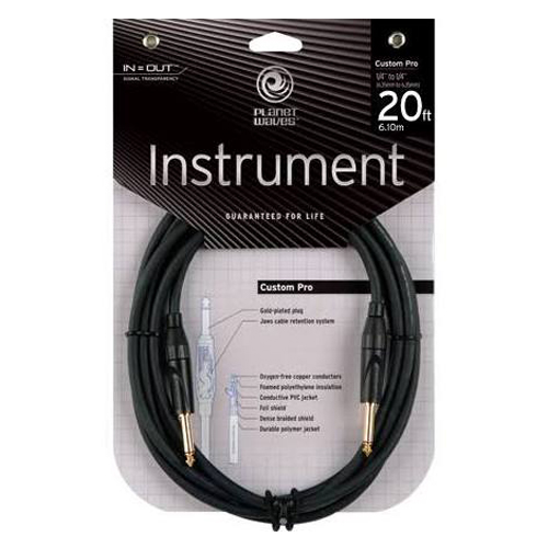 Planet Waves PW-CPG-20 Custom Pro 20 ft. Instrument Cable - Bananas at Large