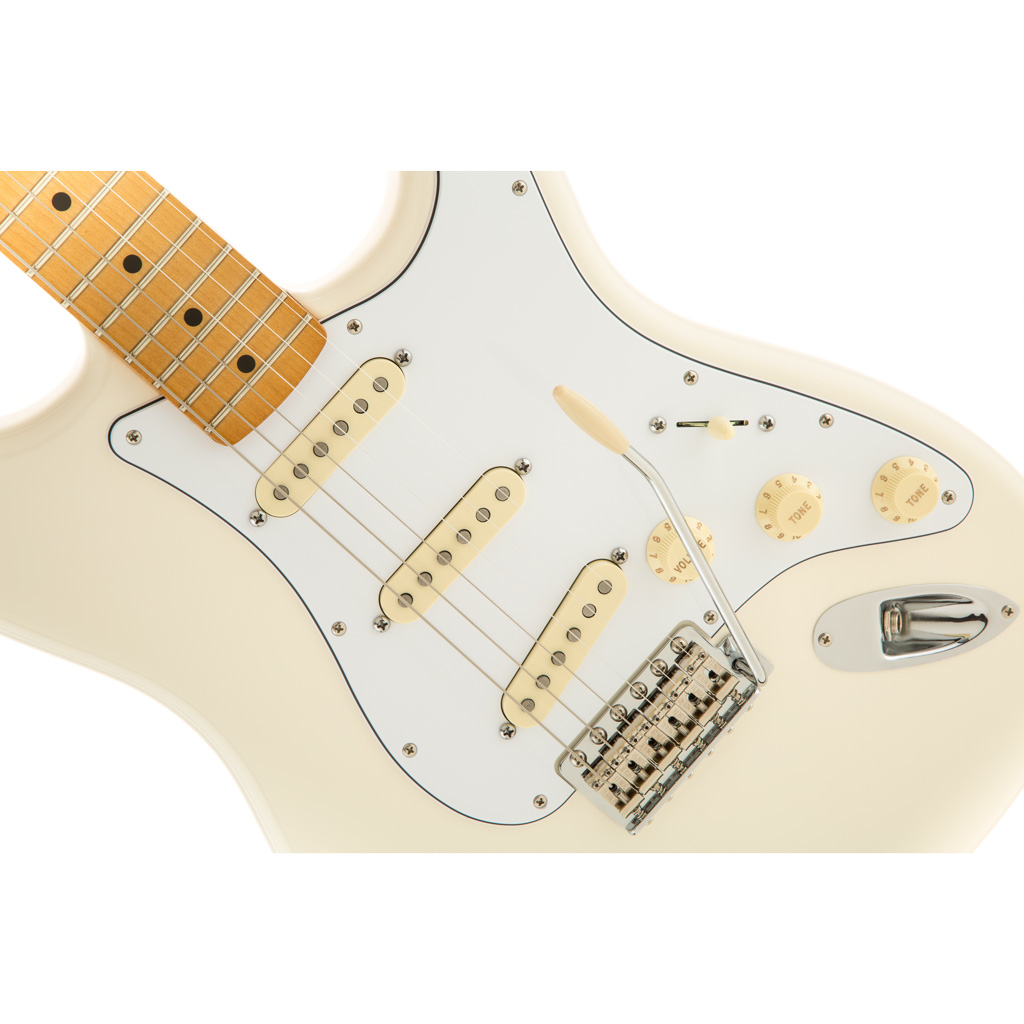Fender Jimi Hendrix Stratocaster with Maple Fingerboard - Olympic White - Bananas At Large®