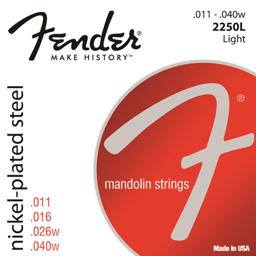 Fender 2250L Nickel-Plated Steel Mandolin Strings - Bananas At Large®