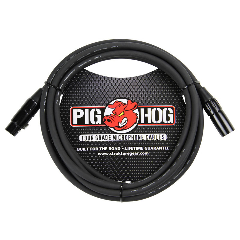 Pig Hog PHM15 8mm Mic Cable, 15ft XLR - Bananas at Large