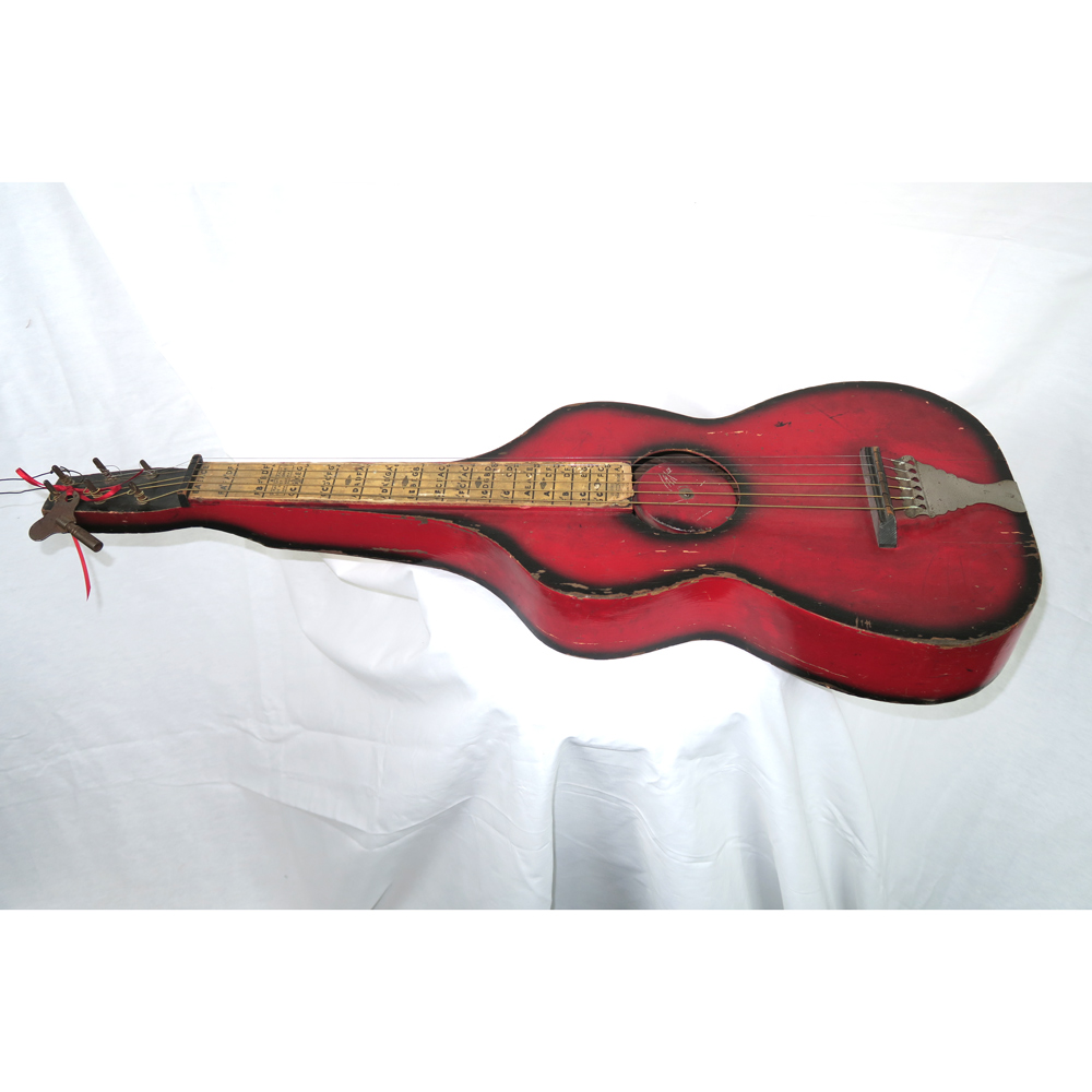 Radio Tone 1927 Hawaiian Guitar Weissenborn Hollow Body Neck Style Resonator, Redburst No Case (Jeffrey Cohen) (Pre-Owned) - Bananas at Large - 1