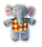 Alfred Music for Little Mozarts: Plush Toy -- Elgar E Elephant - Bananas at Large