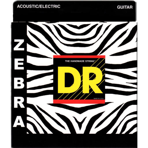 DR Strings ZAE-11 Unique Zebra Acoustic Electric Strings Medium Lite - Bananas At Large®