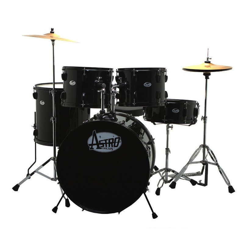 Astro 5pc M-Series Drum Kit with HD, Black (No Cymbals) - Bananas At Large®