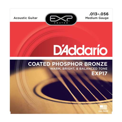 D'Addario EXP17 Coated Phosphor, Medium, 13-56 - Bananas At Large®