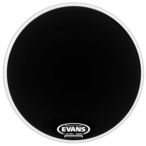 Evans BD20RBG 20 In. Resonant Black Bass Drum Drumhead - Bananas At Large®