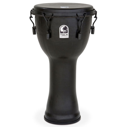 Toca Mechanically Tuned Djembe with Extended Rim 12 in. Black Mamba - Bananas at Large