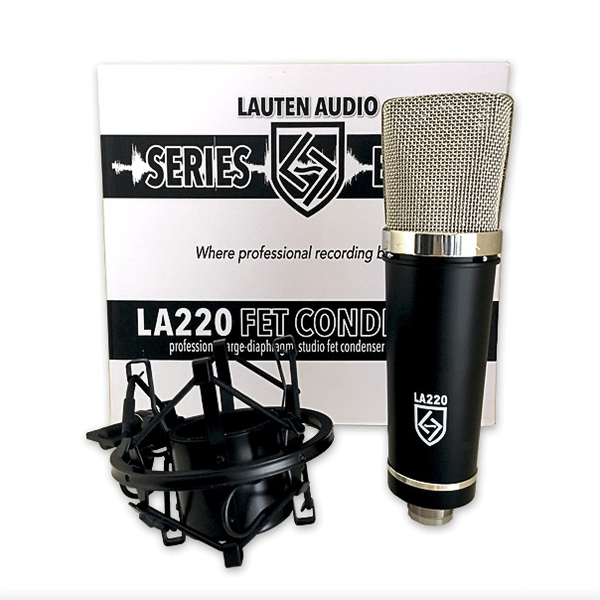 Lauten Audio LA-220 Series Black Large Diaphragm FET Studio Condenser Microphone
