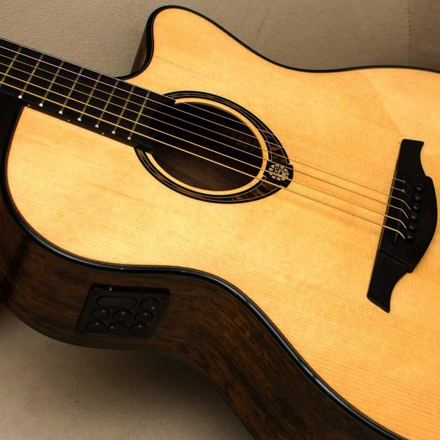 Lag TSE701ACE Tramontane Limited Edition Acoustic-Electric Guitar with Case - Snake Wood - Bananas at Large - 2