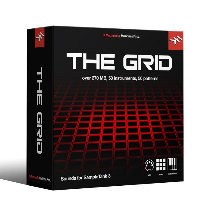 IK Multimedia BS-THEGRID-DID-IN ST3 - The Grid Library Electronic drum kit construction kit [Download] - Bananas At Large®