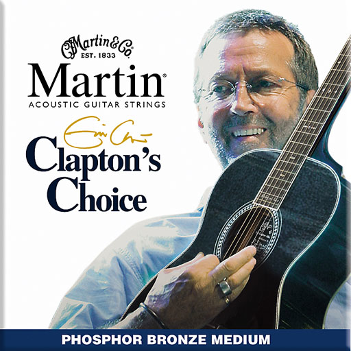 Martin MEC13 Claptons Choice Phosphor Bronze Acoustic Guitar Strings Medium - Bananas at Large