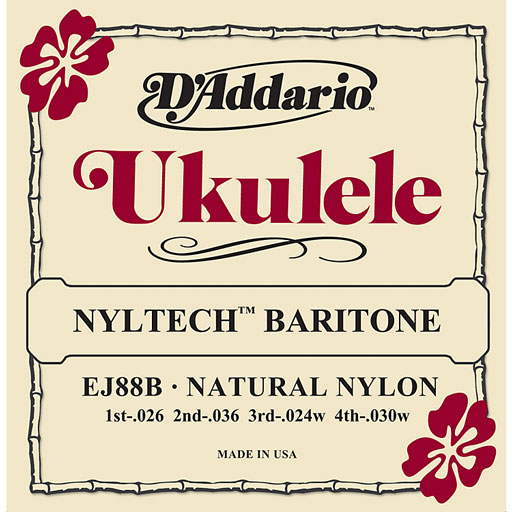 DAddario EJ88B Nyltech Baritone Ukulele Strings - Bananas At Large®
