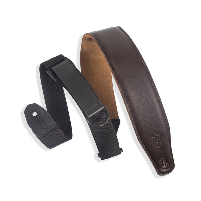 Levy's Specialty Series Right Height Garment Padded Guitar Strap - Dark Brown