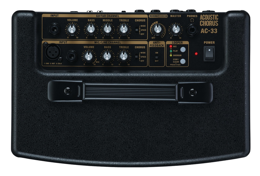 Roland AC-33 Battery-Powered Acoustic Chorus Amp Black - Bananas at Large - 2