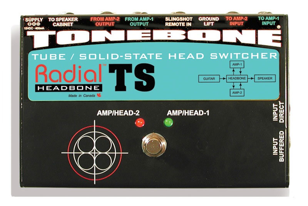 Radial Tonebone Headbone TS Amp Head Switcher for Tube and Solid State