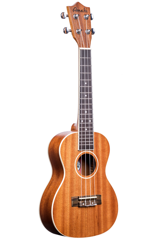 Amahi UK217C Mahogany Series White Binding Concert Ukulele with Gig Bag - Bananas at Large - 1