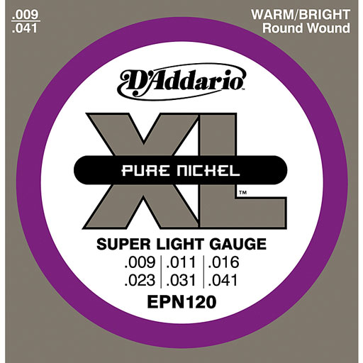 DAddario EPN120 Electric Pure Nickel Strings - Super Light 9-41 - Bananas At Large®