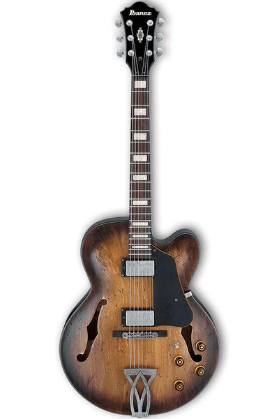 Ibanez AFV10A Artcore Hollowbody Electric Guitar - Tobacco Burst Low Gloss - Bananas at Large