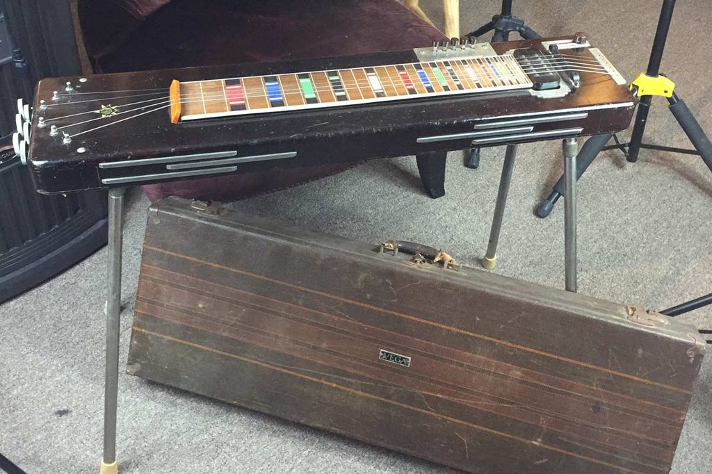 Vega Electric Console 1939 Six String Lap Steel with Legs and Brown Case (Jeffrey Cohen) (Pre-Owned) - Bananas at Large - 1