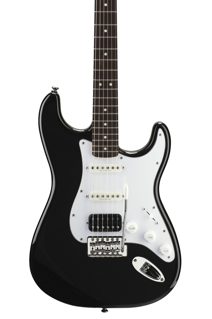 Squier Vintage Modified Stratocaster HSS with Rosewood Fingerboard - Black - Bananas at Large - 1
