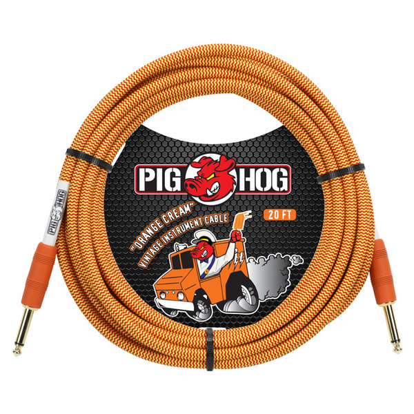 Pig Hog PCH20CC Orange Cream Instrument Cable, 20 ft. - Bananas at Large