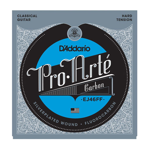 D'Addario EJ46 Pro-Arte Carbon with Dynacore Basses Hard Tension Classical Strings - Bananas At Large®