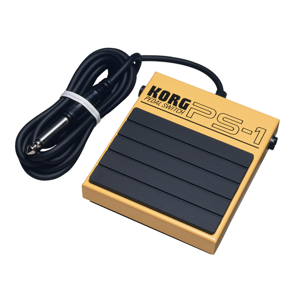 Korg PS-1 Single Momentary Pedal Footswitch for MIDI Keyboards - Bananas at Large