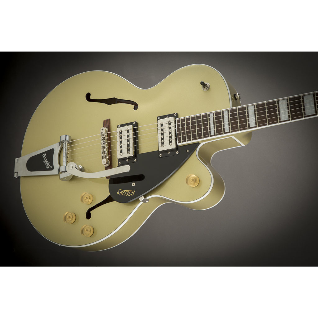 Gretsch G2420T Streamliner Hollow Body with Bigsby and Broad'Tron Pickups - Gold Dust - Bananas at Large - 3