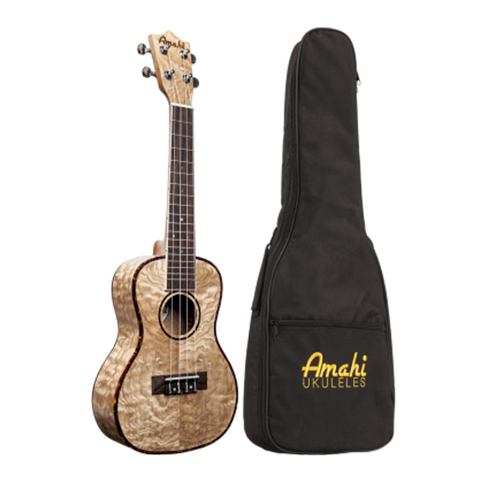 Amahi UK880C  Classic Quilted As Concert Ukulele Gig Bag - Bananas At Large®