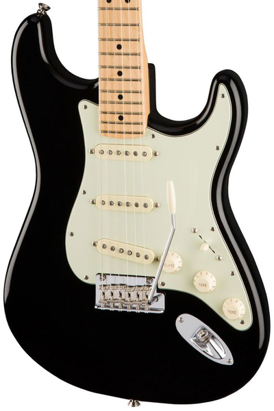 Fender American Pro Stratocaster, Maple Fingerboard - Black - Bananas at Large - 1