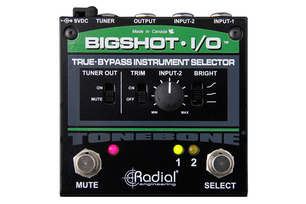 Radial BigShot I/O True-bypass Instrument Selector