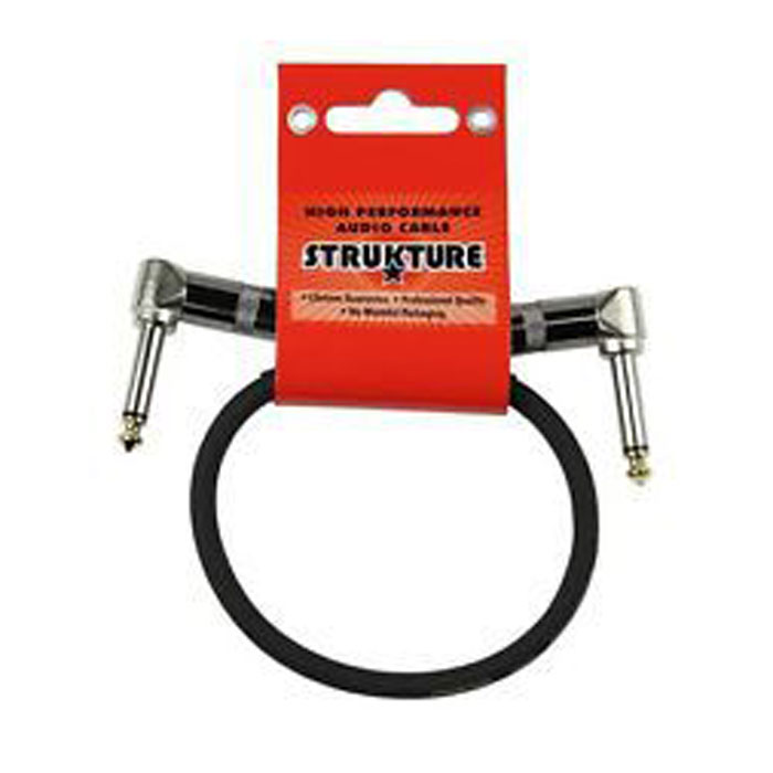 Strukture SC01RR 1ft Instrument Cable Right Angle plugs - Bananas at Large