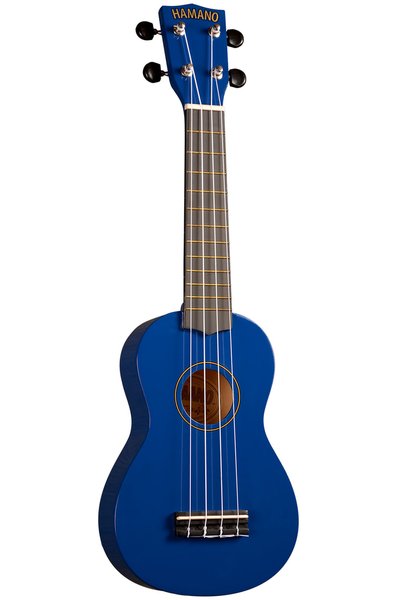 Hamano U-30BU Soprano Ukulele with Bag - Blue - Bananas at Large - 1