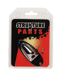 "Strukture Cup Jackplate (7/8"") For Tele Style, Chrome - Bananas at Large"