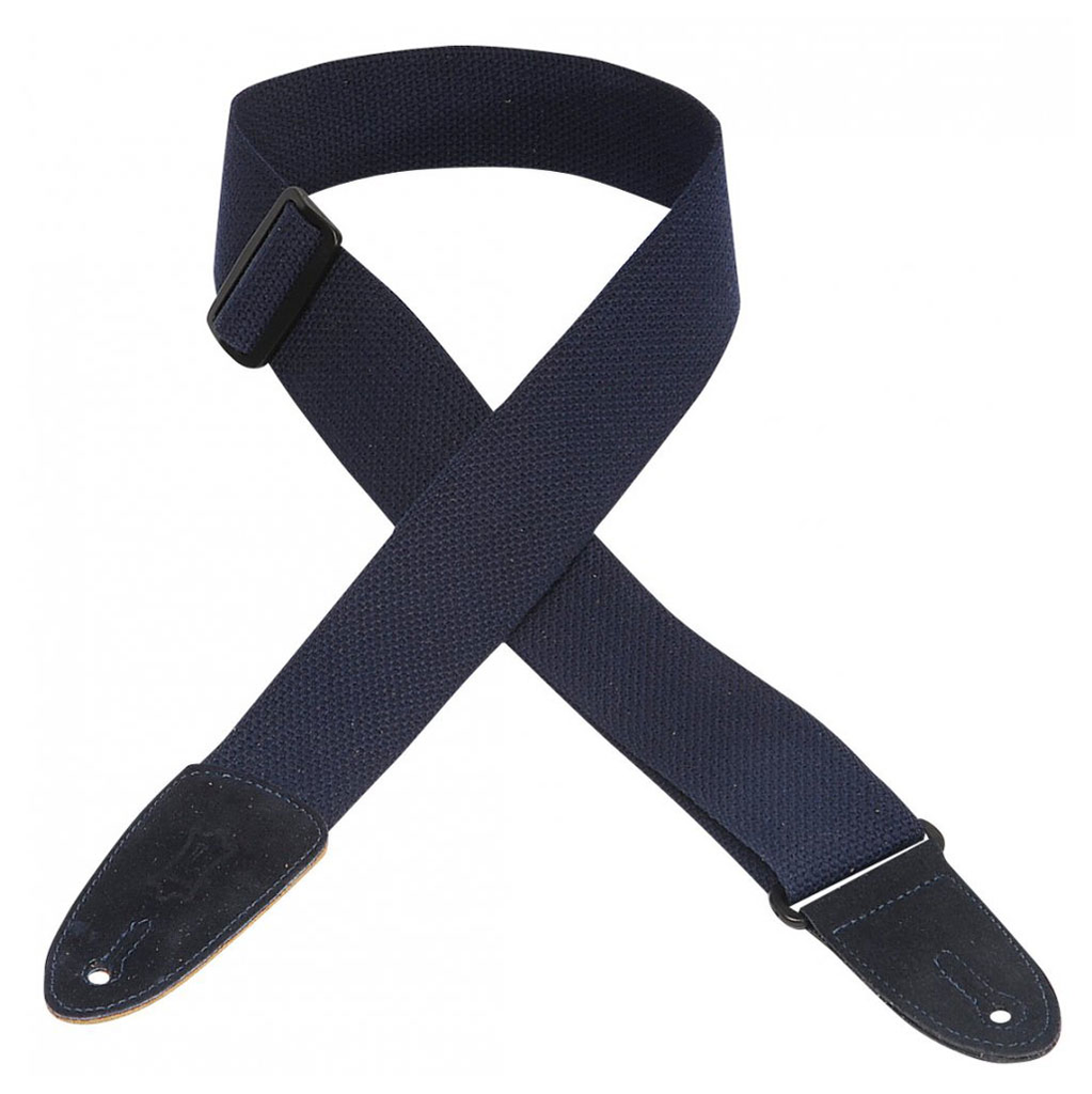 Levy's 2 in. wide navy cotton guitar strap. - Bananas at Large