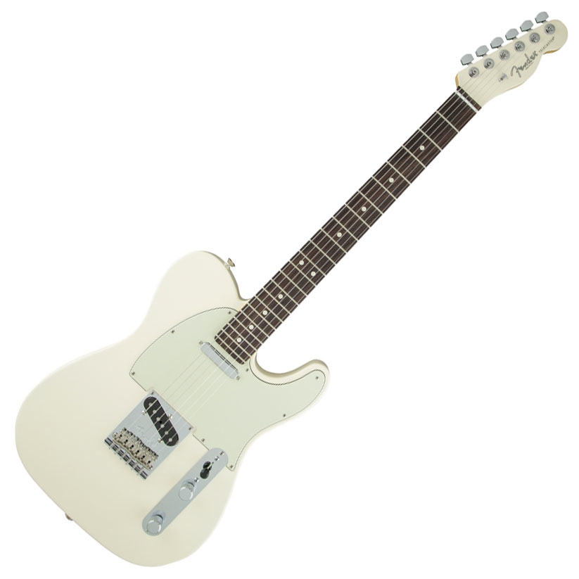 Fender Limited Edition American Standard Telecaster with Rosewood Fingerboard and Painted Headcap- Olympic White - Bananas At Large®