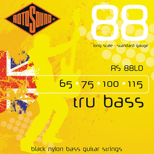 RotoSound RS88LD Tru Bass 88 Long Scale Standard Black Nylon Bass Strings - Bananas at Large