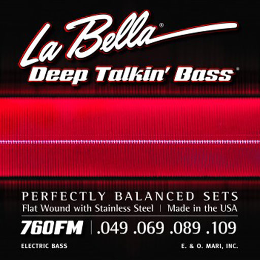 La Bella 760FM Deep Talkin Bass Flat Wound - Medium - Bananas at Large
