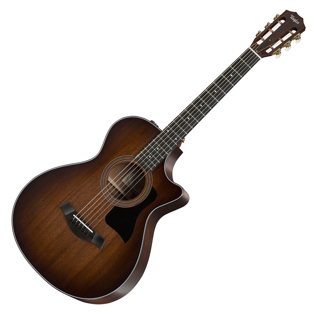 Taylor 322ce 12-Fret (2016) Grand Concert Acoustic Electric Guitar with ES2 - Bananas at Large
