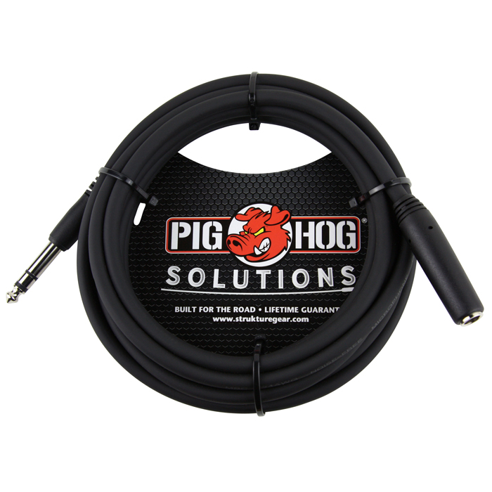 Pig Hog PHX14-10 10ft Headphone Extension Cable, 1/4 - Bananas At Large®
