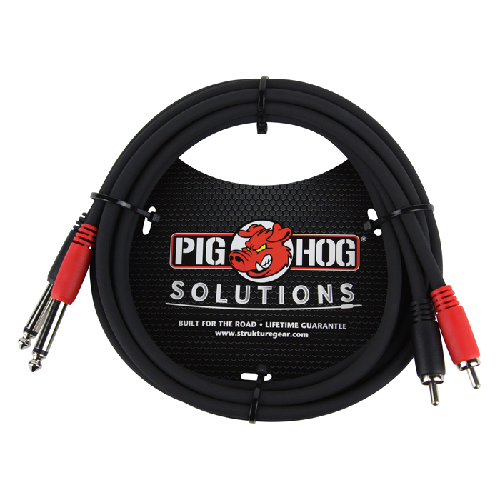 Pig Hog PD-R1406 Solutions 6ft RCA - 1/4 in. Dual Cable - Bananas at Large