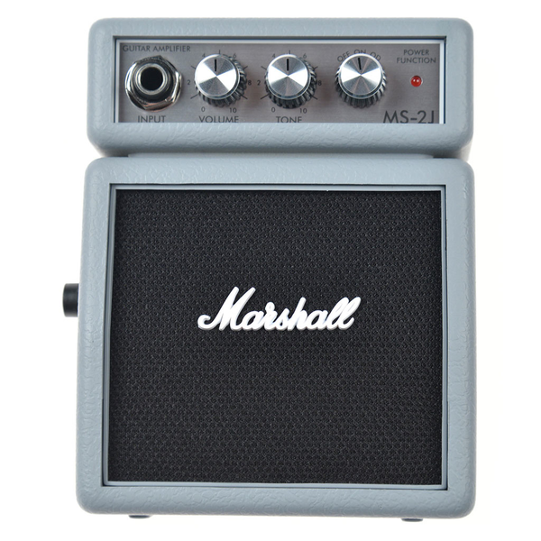 Marshall Limited Edition MS-2J Mini Amp -  Jubilee Silver - Bananas at Large