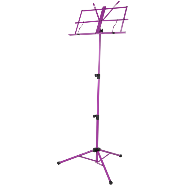 Strukture SMS1XPP Deluxe 3-part Adjustable Music Stand with bag - Purple