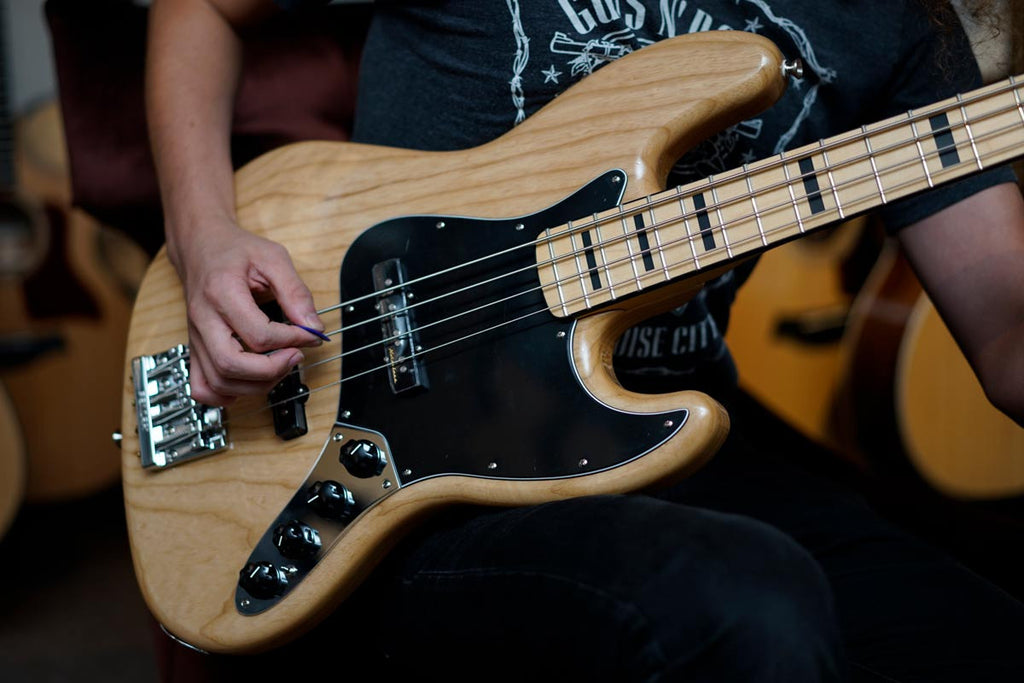 Fender Deluxe Active Jazz Bass with Maple Fingerboard - Natural - Bananas At Large®