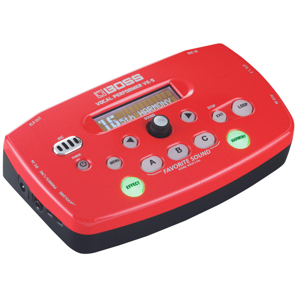 Boss VE-5-RD Vocal Performer - Red - Bananas at Large - 3