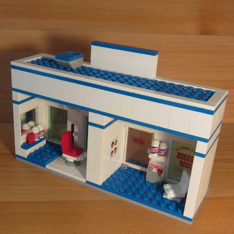 Museum: Dan's Custom LED Animated Barber Shop Mod (for your LEGO town)