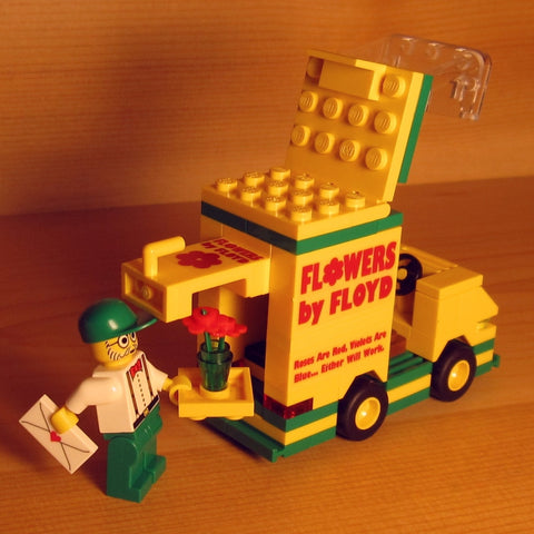 Dan's Custom Florist Delivery Van (for your LEGO town)