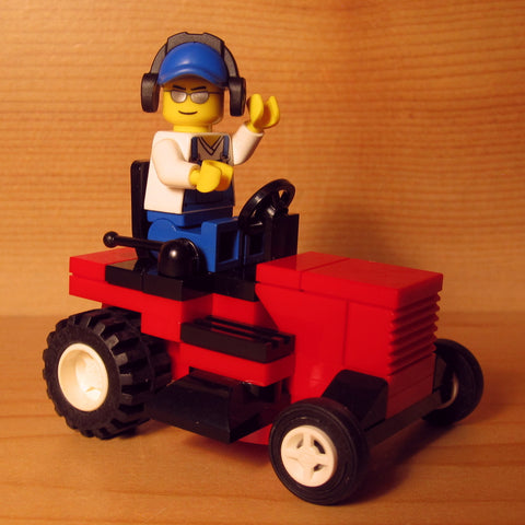 Dan's Custom Riding Mower Red (for your LEGO town)